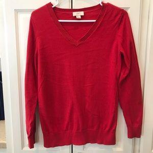 Women's Red Loft V-Neck Sweater